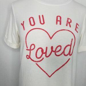 Isabel Maternity by Ingrid & Isabel Tops - Maternity Rolled Cuff You Are Loved Graphic Tee